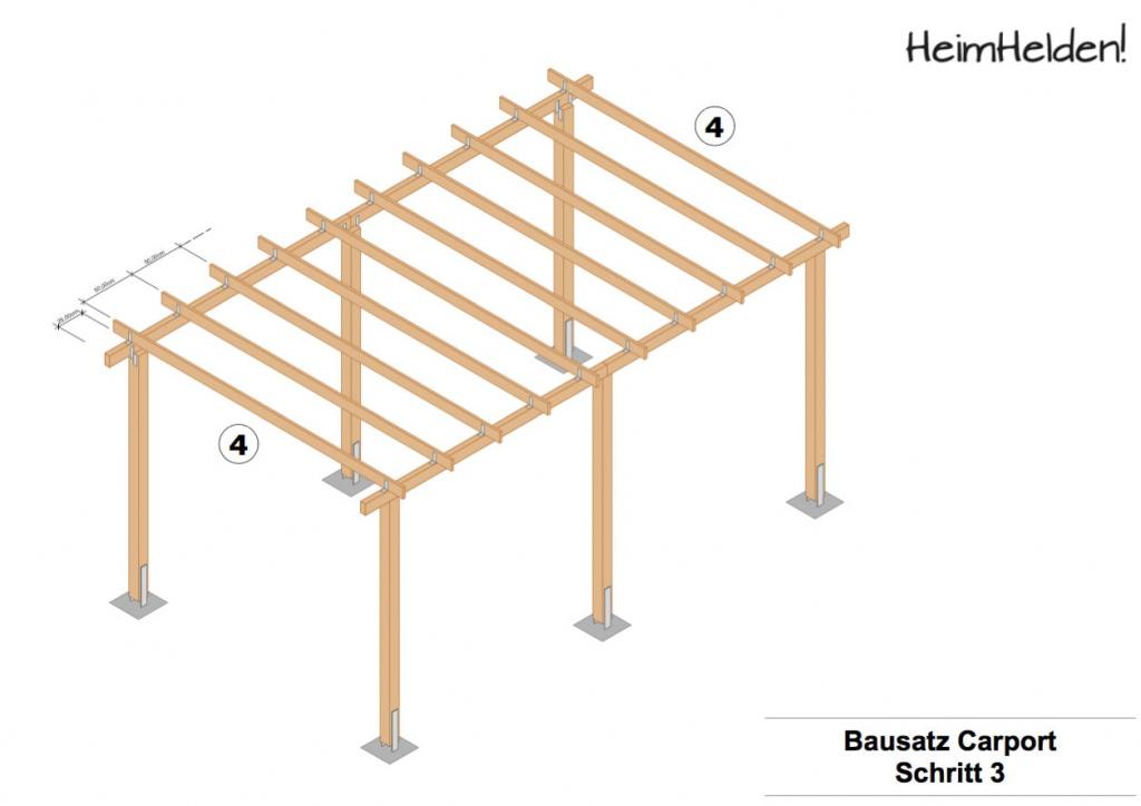 Bauanleitung Carport  Heimhelden Image Sample of Metal Carport Do It Yourself
