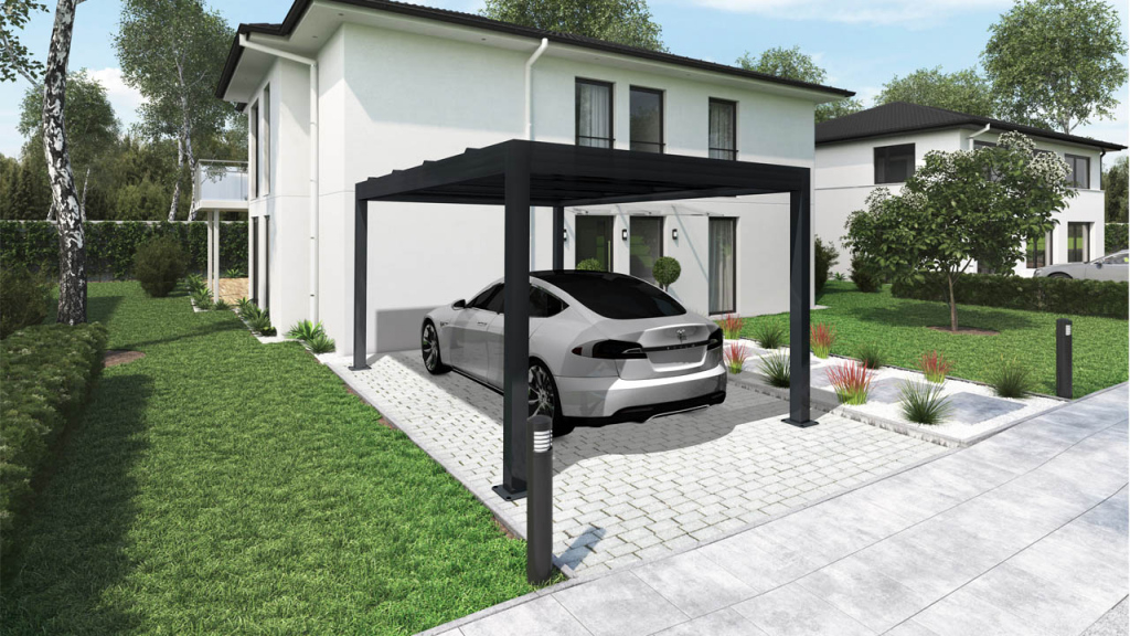 Biovoltaische Gartenlauben  Pergola  Irfts Photo Example of Residential Solar Carport Kit