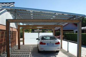 Bluetop Solar Parking  Portal System Picture Example for Residential Solar Carport