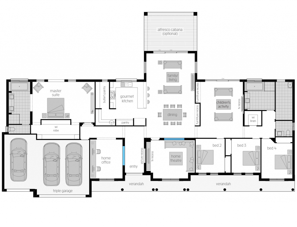 Bronte  Acreage Homes Designs  Mcdonald Jones Homes Photo Sample of House Plans With Carport In Back