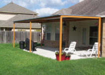 Build A Lean To Carport Side Of House Standing Patio Cover Facade Example in Diy Carport Lean To