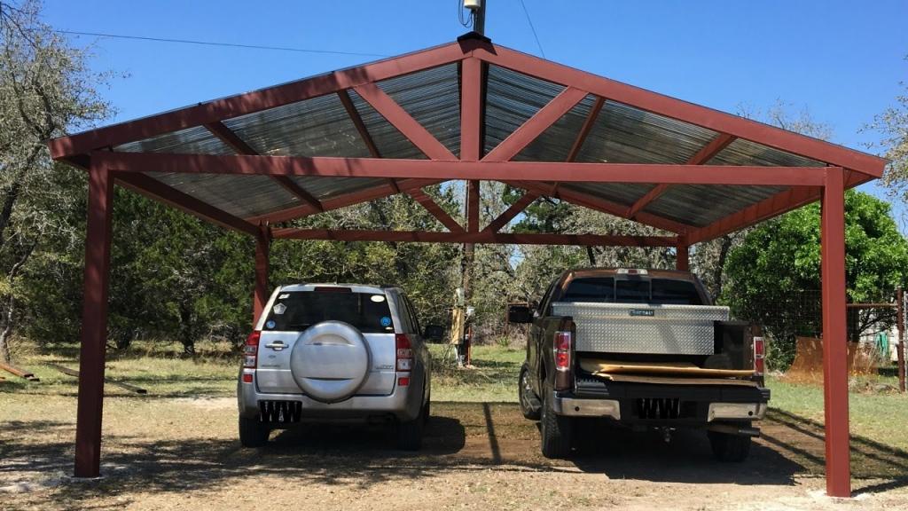 Building A Metal Carport – Part 2  Weekend Handyman Image Sample of How To Build Metal Carport