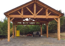 Building An Easy Diy Rv Cover  Western Timber Frame Facade Sample in Cost To Build Wood Carport