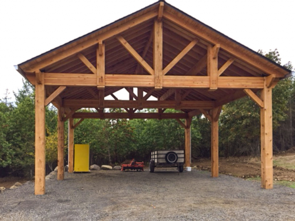Building An Easy Diy Rv Cover  Western Timber Frame Facade Sample in Diy Carport Cost