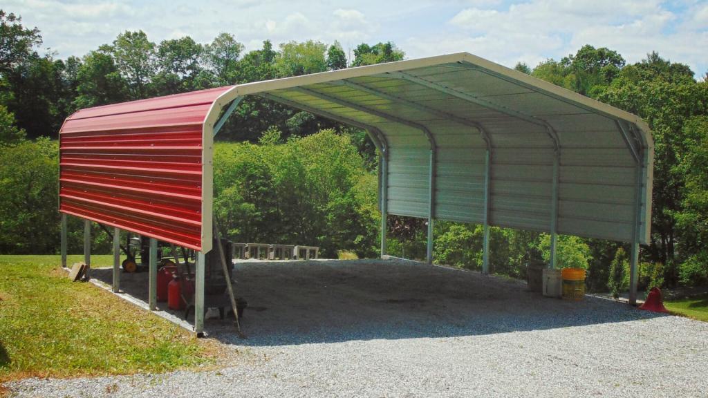 Buy Metal Carports Steel Carports Prices Metal Car Port Photo Example of Close In Metal Carport