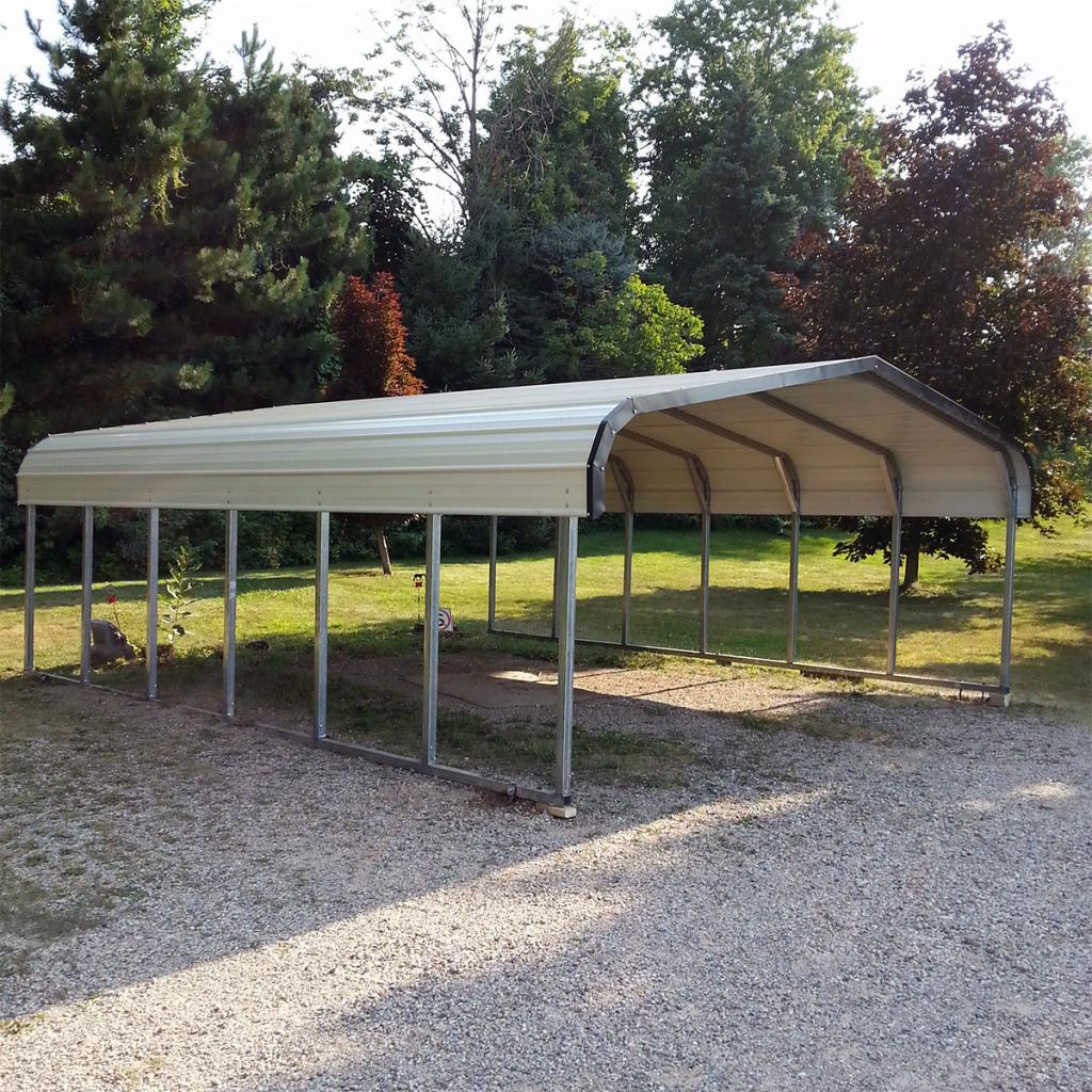 C02 18X20X6 Carport Image Example for Metal Carport For Sale