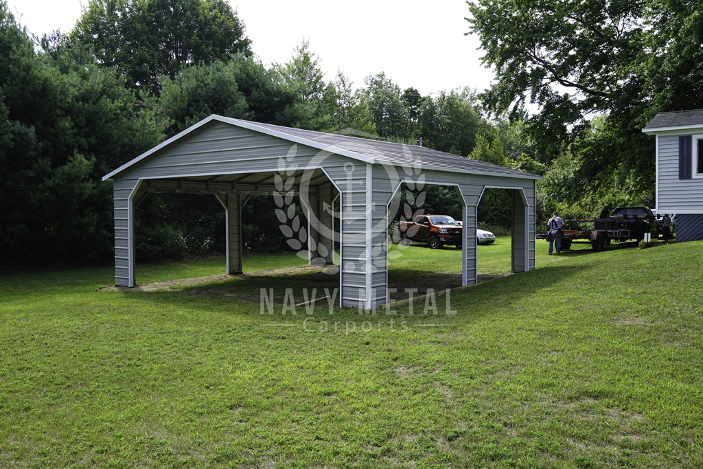 C10 18X25X8 Side Drive Carport Image Example of House With Carport On Side