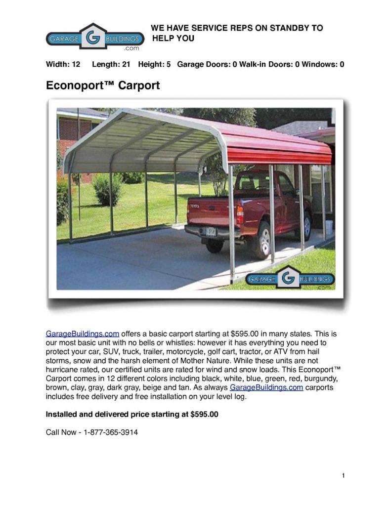 Calaméo  Mental Carport Buildings Catalog  Metal Carports Kits Picture Example of Metal Carport Installers