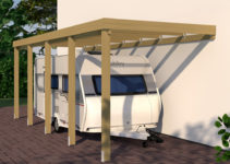 Caravananbaucarport Grundkonstruktion 3X8  Typ 280 Ohne Image Sample in Wood Rv Carport