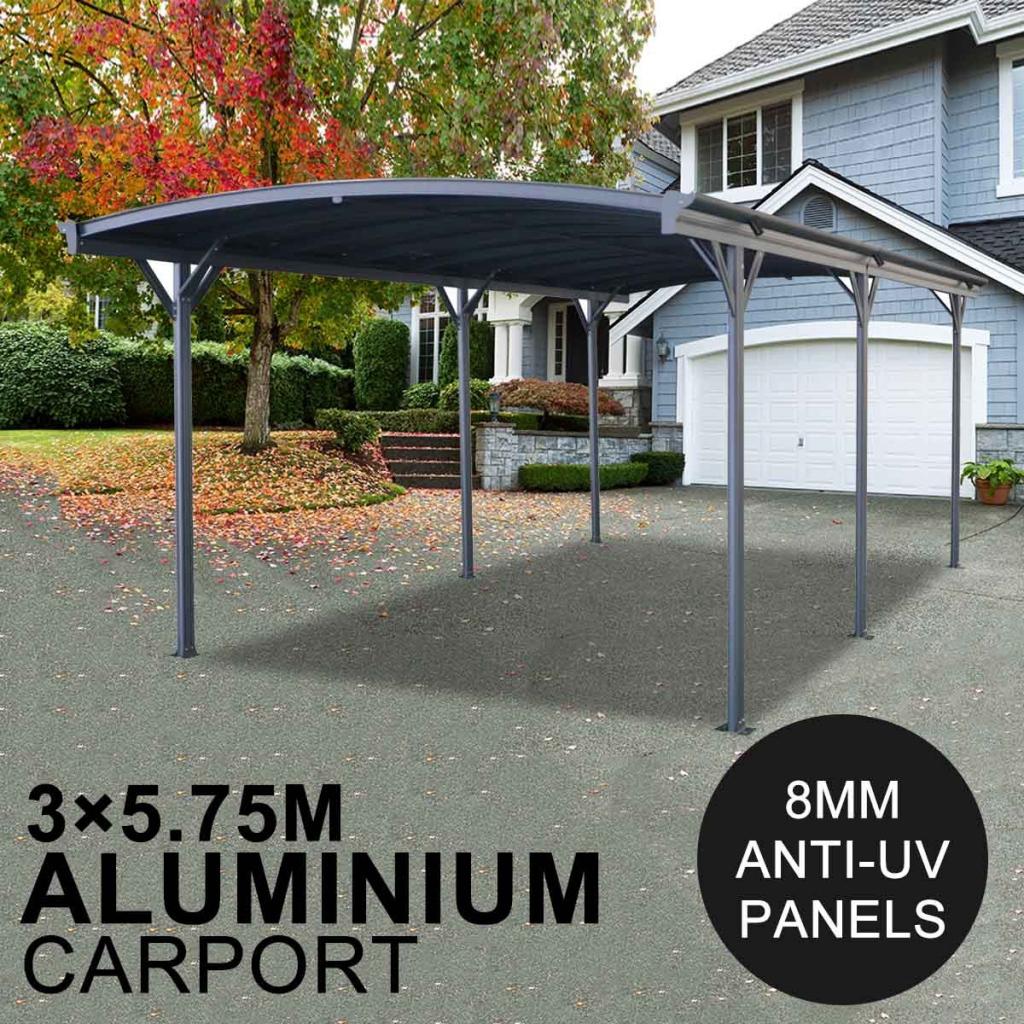 Carport 8Mm Antiuv Panels 257M Extra High Aluminium 3M X 57M Outdoor  Canopy Car Port Facade Example of Outdoor Canopy Carport
