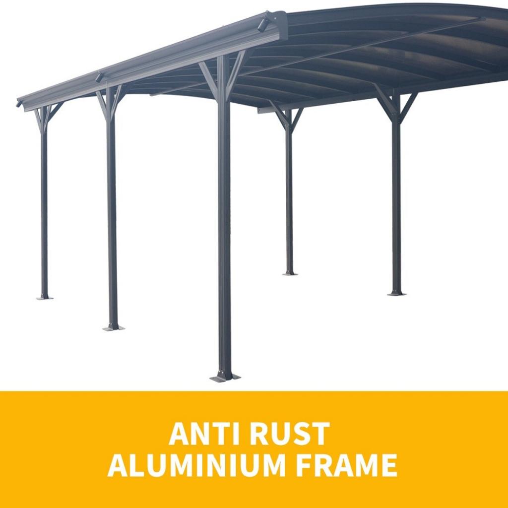 Carport 8Mm Antiuv Panels 257M Extra High Aluminium 3M X 5M Outdoor  Canopy Car Port Facade Example in Outdoor Canopy Carport