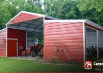Carport  Buy Custom Carports Garages Or Metal Image Example in Metal Carport Horse Barn