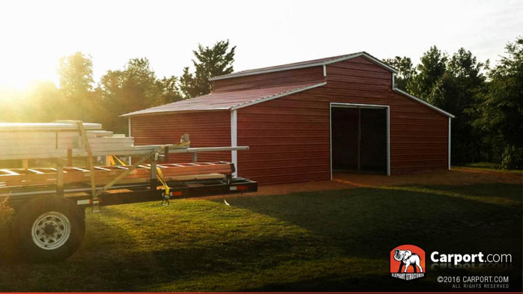 Carport  Buy Custom Carports Garages Or Metal Image Sample in Metal Carport Barn