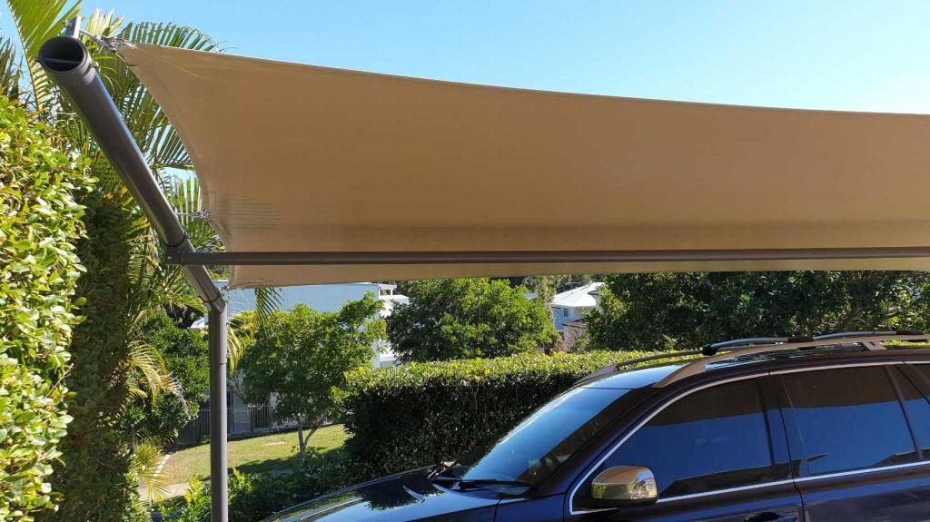 Carport Cantilever Shade Sail Brisbane Image Sample in Cantilever Carport Australia