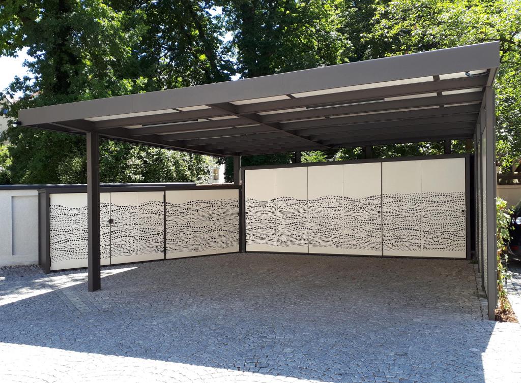 Carport  Cp37  Hochwertige Designerprodukte  Architonic Facade Example of Close In Metal Carport
