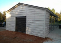 Carport Expansion  Utility Carport Conversion Facade Example in Metal Carport To Garage Conversion