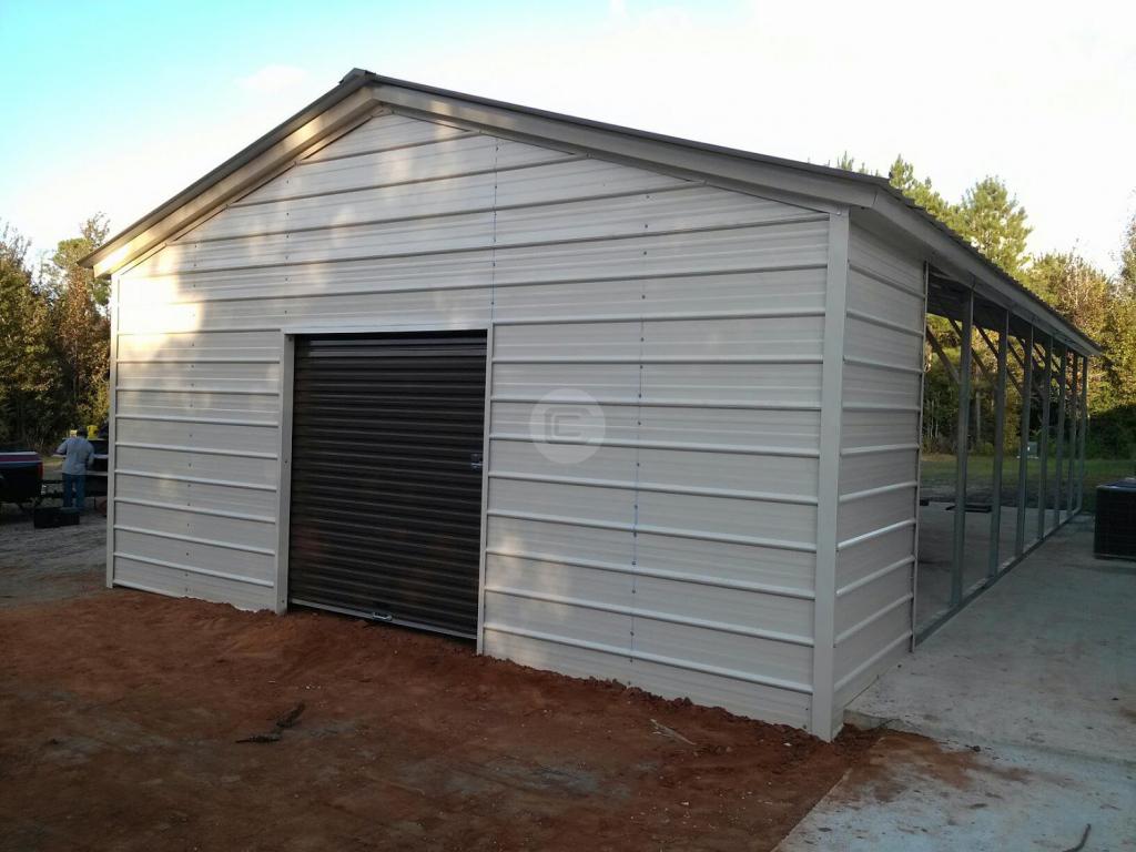 Carport Expansion  Utility Carport Conversion Facade Sample for Enclosed Metal Carport