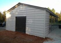 Carport Expansion  Utility Carport Conversion Photo Example of Enclosing A Metal Carport With Wood Siding