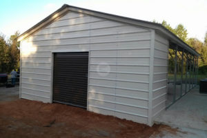 Carport Expansion  Utility Carport Conversion Picture Example of Enclosing A Metal Carport