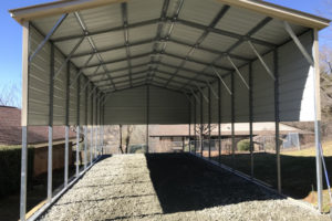 Carport Height Issue And Ideas On Raising It  Jayco Rv Facade Sample for How To Raise A Metal Carport