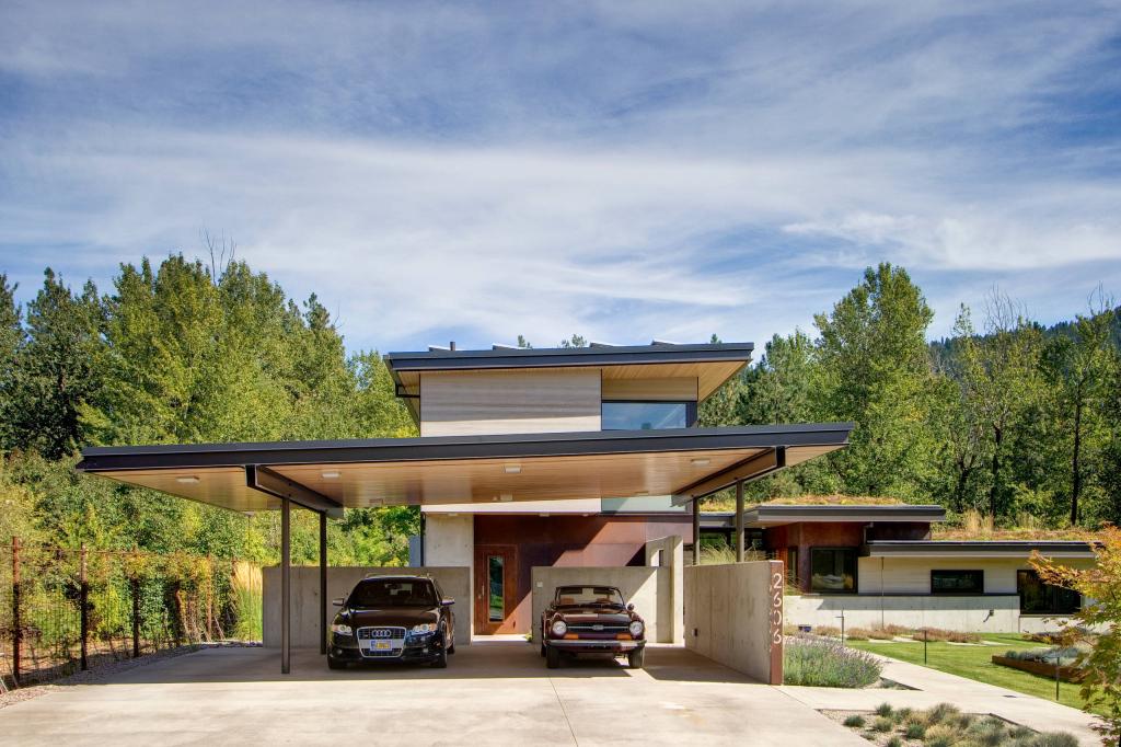 Carport Ideen Design  Bilder  Houzz Picture Example in Garage Carport Combo
