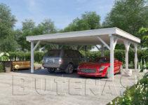 Carport Magnolie Flachdach Facade Sample in Metal Carport 20 X 20
