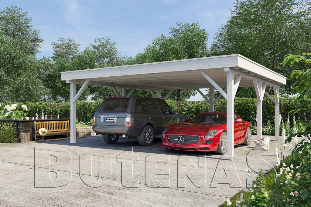 Carport Magnolie Flachdach Photo Example for Driveway Carport Canopy
