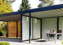 Carport Metall Doppelcarport Stahl Holz Kaufen Abstellraum Picture Example in Pergola Style Wood Carport Design