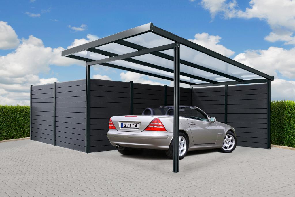Carport Mit Aluunterkonstruktion Image Example of 3 Car Metal Carport