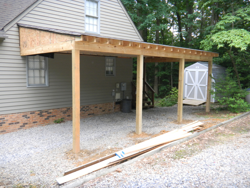 Carport Progress Photos Rbm Remodeling Solutions Llc  Home Facade Sample in Build Attached Carport