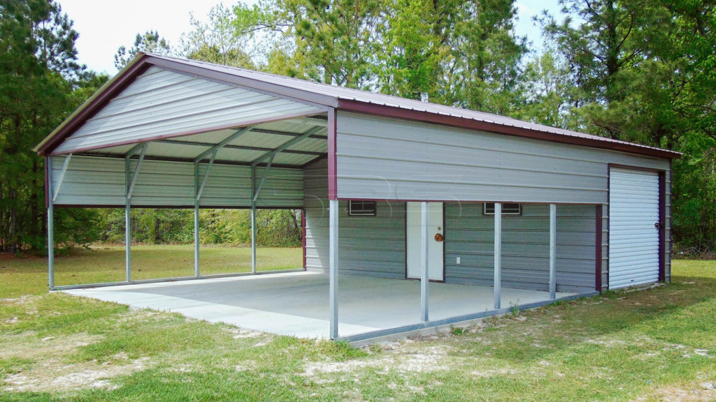 Carport Shed Combo Plans  Tuff Shed Keystone Kr 600 Picture Example of Combo Garage Carport