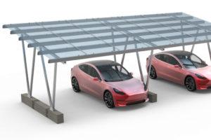 Carport Solar Mount System  Canopy  China Solaracks Photo Sample for Solar Carport Structure