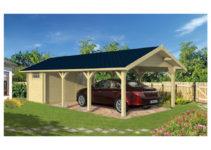 Carport Trouville Mit Angebauten Schuppen – 673M² Innenraum 2088M²  Überdachte Fläche Facade Sample in 20 By 20 Metal Carport