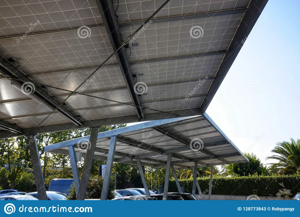 Carport With Solar Panels Stock Image Image Of Alternative Picture Sample in Metal Carport Panels