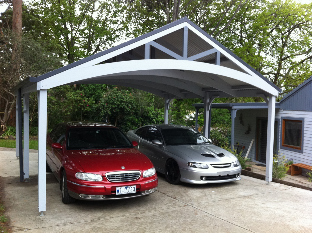 Carports Double Garage With Carport Flat Roof Designs Kits Picture Sample for Garage And Carport Plans