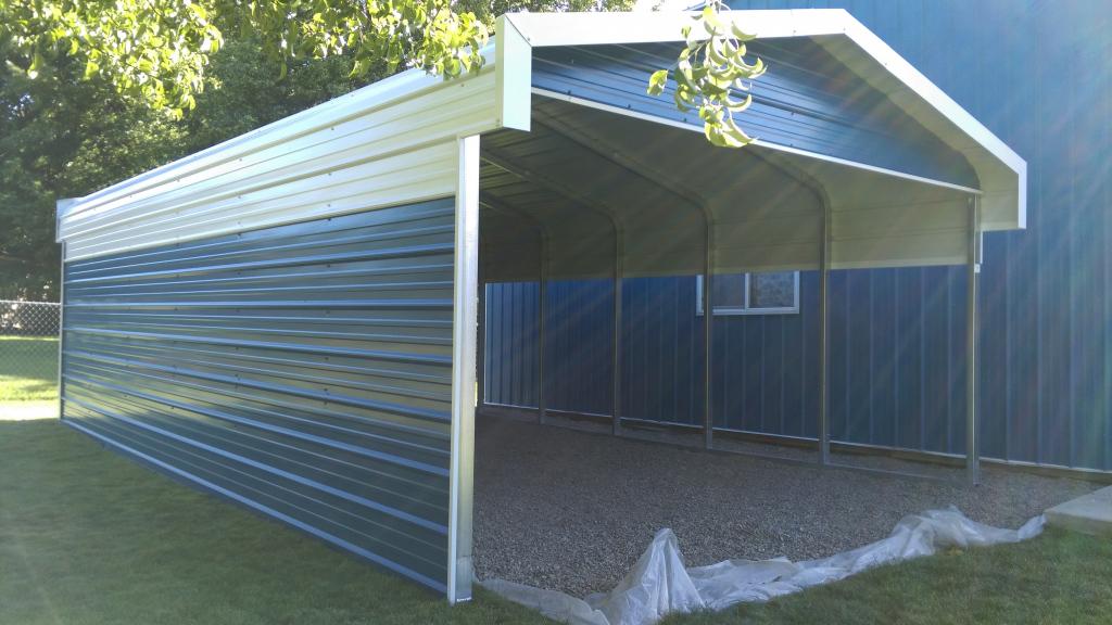 Carports Flat Roof Carport Prices Pre Built Metal Buildings Picture Example of Metal Carport For Sale