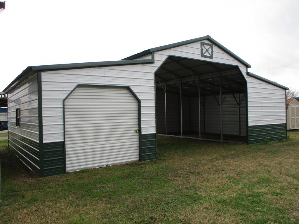 Carports Metal Garages Dfw  Cleburne Waxahachie Hillsboro Facade Example in Metal Carport Installers