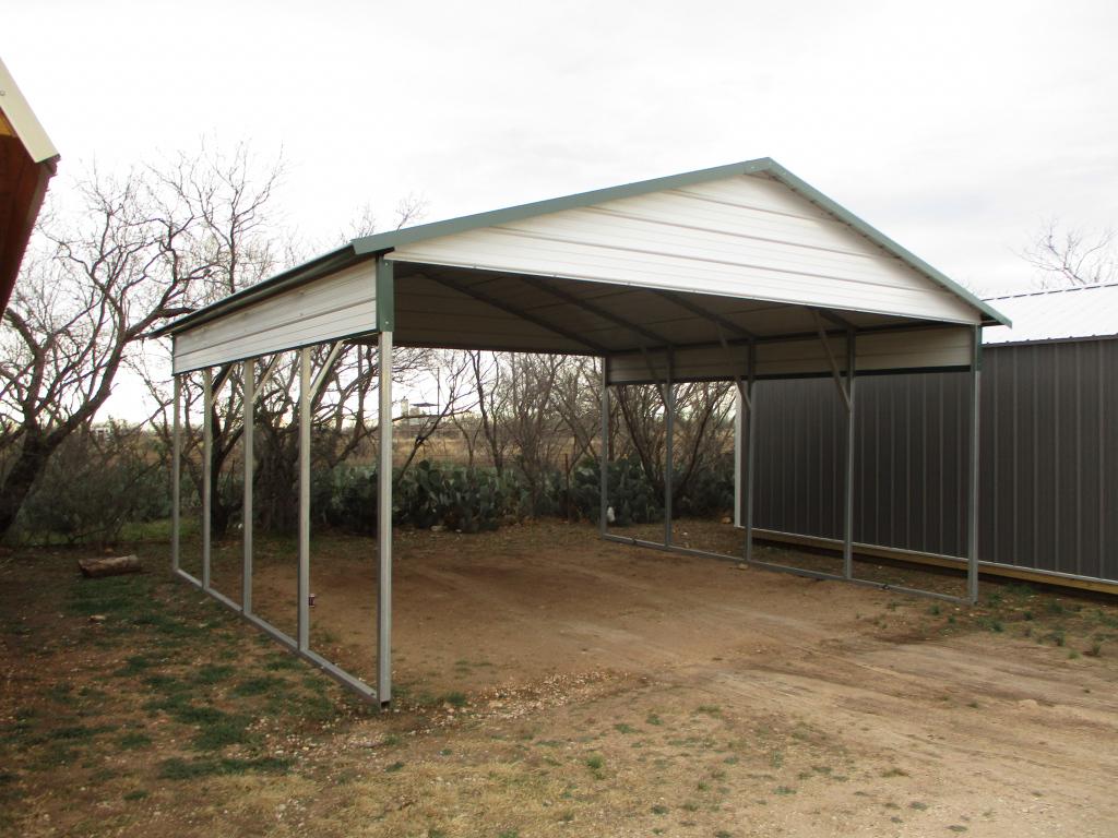 Carports Metal Garages Dfw  Cleburne Waxahachie Hillsboro Facade Example of Metal Carport Installers