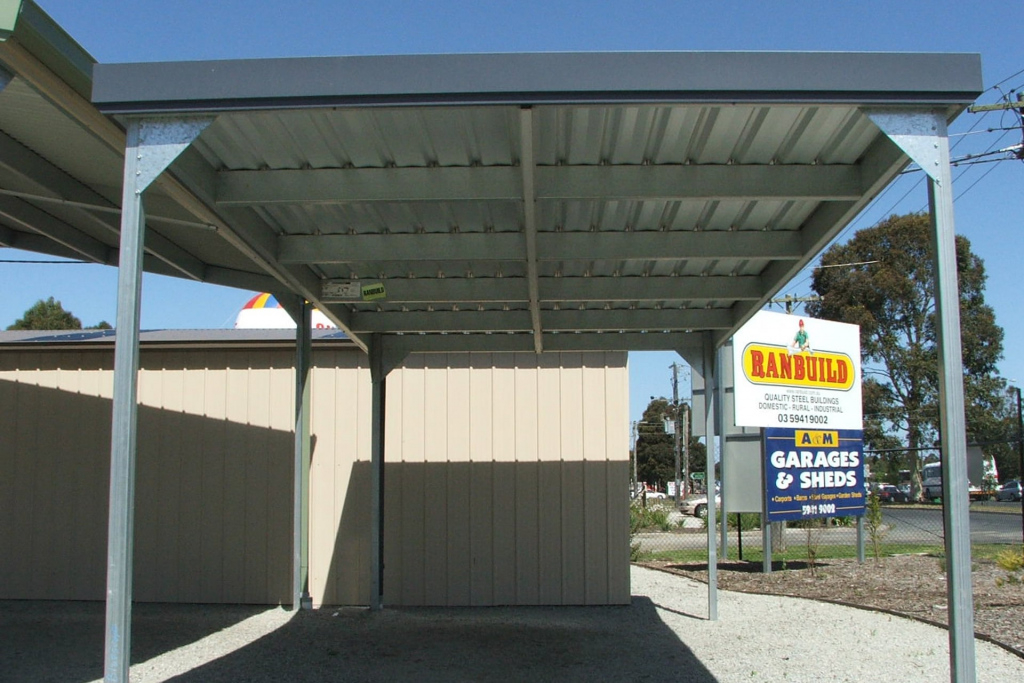 Carports Sheds And Garages For Sale  Ranbuild Picture Example of Cantilever Carport Australia