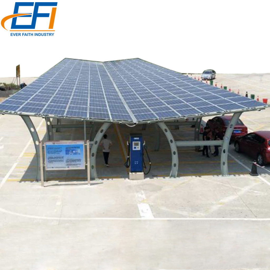 China Aluminum Steel Solar Carport Kit Mount Anodized Photo Example of Solar Carport Kit