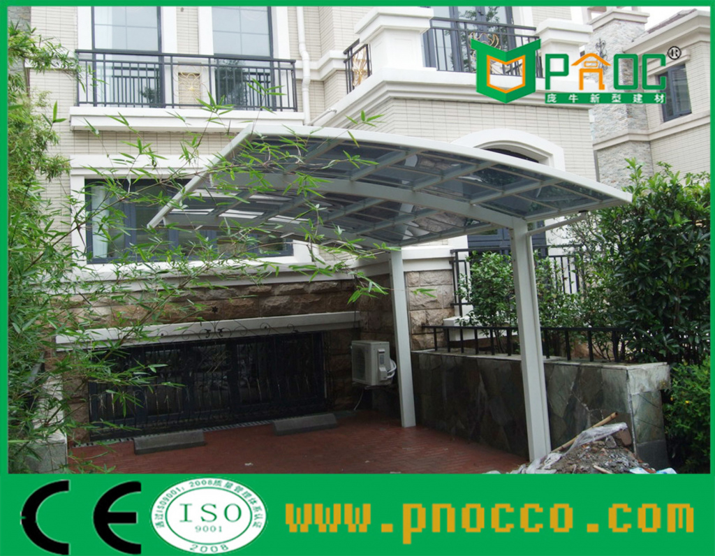 China Freitragender Aluminiumautoparkplatz Gebogenes Dach Photo Example for Diy Cantilever Carport