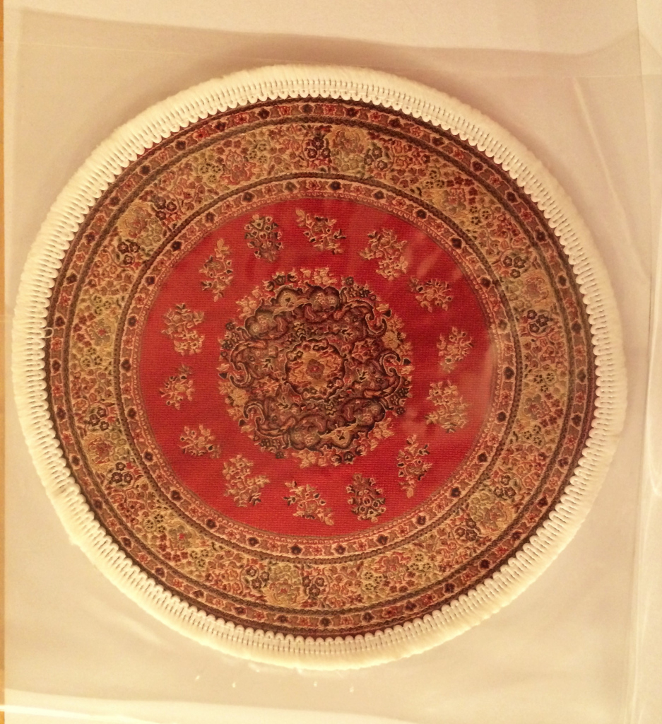 Circle Carpet Red Photo Example in Dolls House Carpet