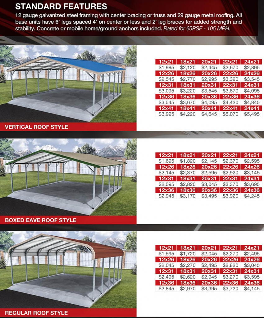 Co  Nm Carport Prices  Metal Carports Colorado And New Mexico Picture Sample for Metal Carport Prices