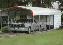 Combo Units Carports With Storage  Gatorback Carports Facade Example for Steel Carport With Storage