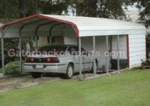 Combo Units Carports With Storage  Gatorback Carports Image Example of Metal Carport With Storage Near Me