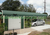 Combo Units Carports With Storage  Gatorback Carports Picture Sample in Metal Carport With Storage