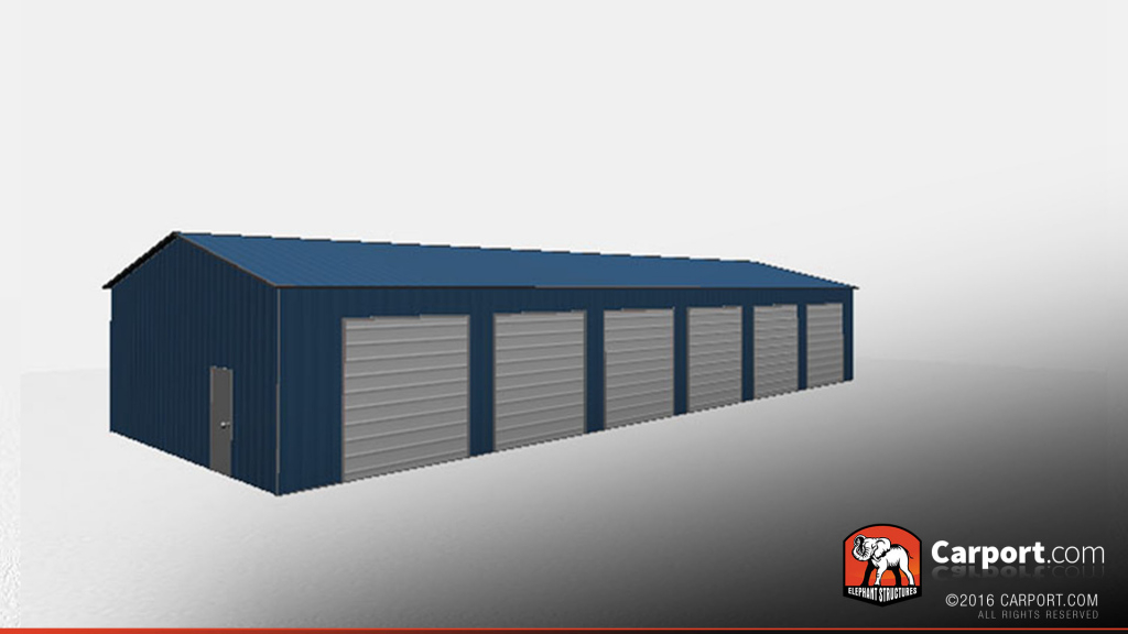 Commercial Metal Garage 30' X 80' X 12' Picture Example of 3 Bay Metal Carport