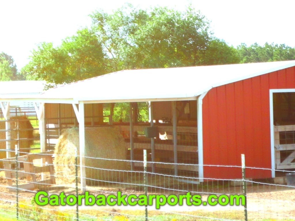 Convert A Cheap Carport Into A Barn  Gatorback Carports Facade Example of How To Turn A Metal Carport Into A Garage