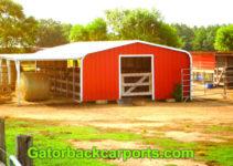Convert A Cheap Carport Into A Barn  Gatorback Carports Facade Sample for Diy Carport Barn