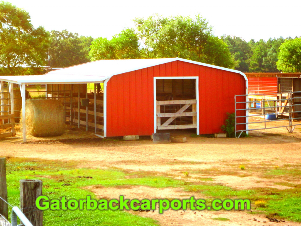Convert A Cheap Carport Into A Barn  Gatorback Carports Photo Example for How To Turn A Metal Carport Into A Garage